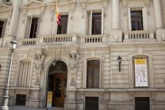 """Exposición """"Ars Librorum"""" - Banderola en la fachada de la RANME"""