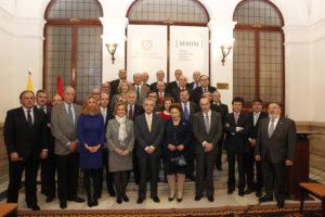 La Infanta Margarita y Manuel Díaz Rubio en la creación de los Amigos del Museo de Medicina Infanta Margarita