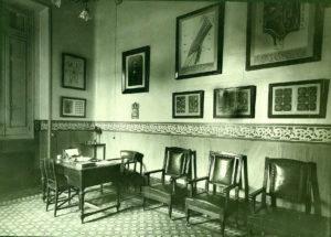 Interior del Instituto Oftálmico. Imagen de mediados de