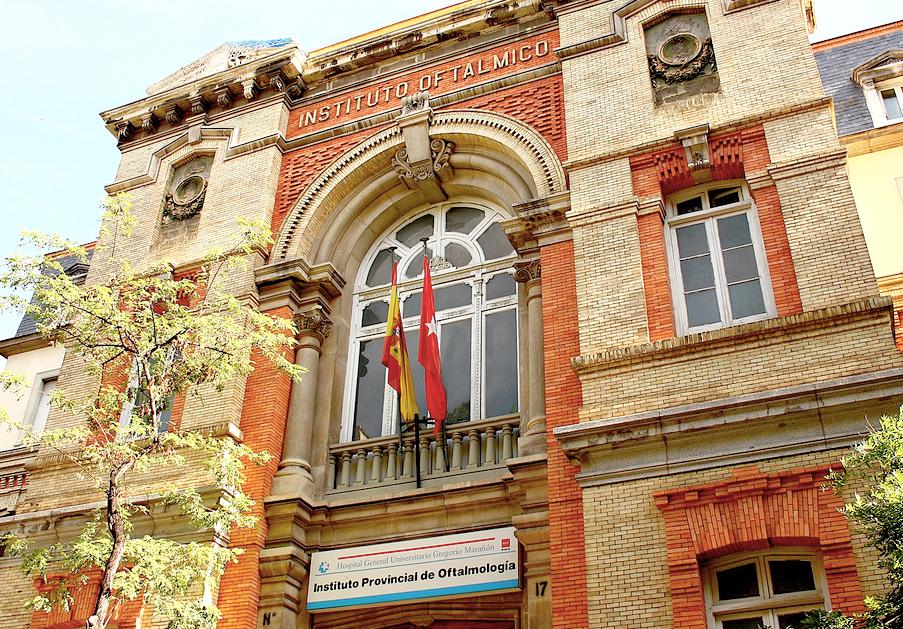 Puerta pincipal del Instituto Oftálimico construido en 1902