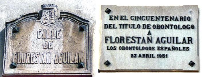Placa calle Florestán Aguilar