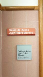 Salón de Actos Juan Pedro Moreno, facultad de Odontología UCM