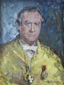 Retrato del Prof. Juan Pedro Moreno González. Sala de Juntas de la Facultad de Odontología de la UCM