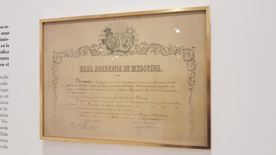 Exposición de Cajal en el Colegio de Médicos