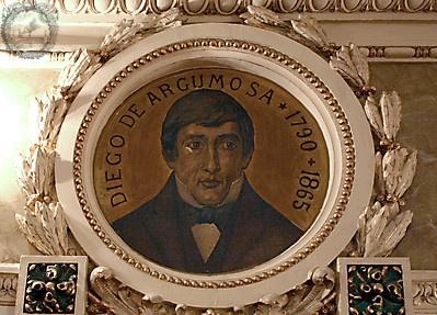 Retrato de Diego de Argumosa en el salón de actos de la Real Academia Nacional de Medicina de España
